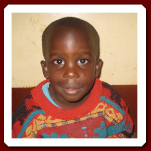 African child with HIV waiting for adoption